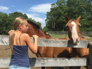 Daughter and horses | My Child Will Thrive