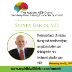 021: Sidney Baker –  The Importance of Medical History and how Identifiying Symptom Clusters can Highlight the Best Treatment Plan for your Child
